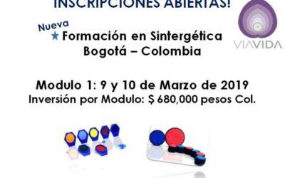 Próxima Formación en Sintergética en Bogotá – Inicio Marzo 2019