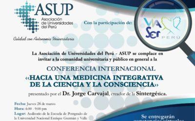 Buenas Noticias desde la AIS | Entrega de diploma y medalla al Dr. Jorge Carvajal por la Asociación de Universidades del Perú