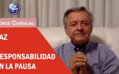 """Retorno al Ser que somos – Conferencia Online """"Paz y Responsabilidad en la Pausa"""", por Jorge Carvajal"""