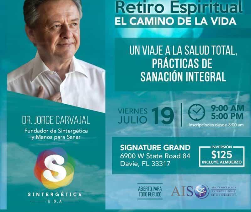 USA – Miami. Retiro e Inicio de nueva formación en Sintergética, con el  Dr. Jorge Carvajal. Del 18 al 21 Julio 2019