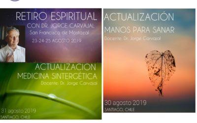 Actividades con el Dr. Jorge Carvajal en Chile. Agosto 2019
