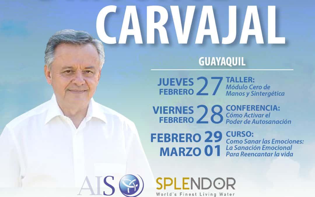 Llega a Ecuador el Dr. Jorge Carvajal, creador de la Sintergética
