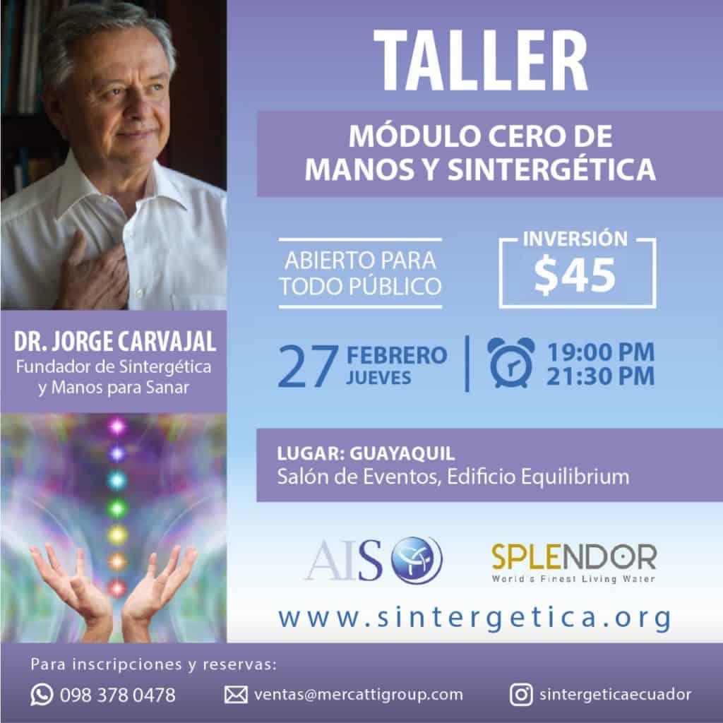 Eventos y Formación con el Dr. Jorge Carvajal en Ecuador
