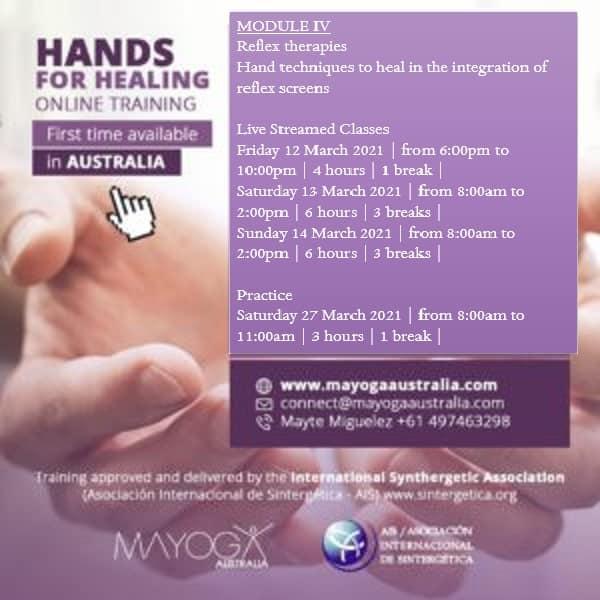 Hands for Healing ONLINE training in Australia 2020-2021 | Module 4