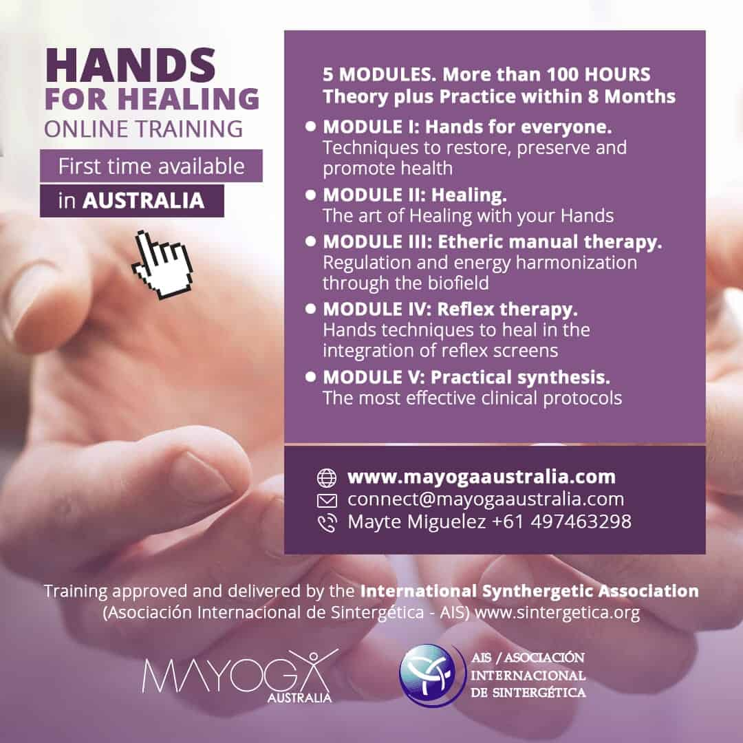 Hands for Healing ONLINE training in Australia 2020-2021 | Module 5