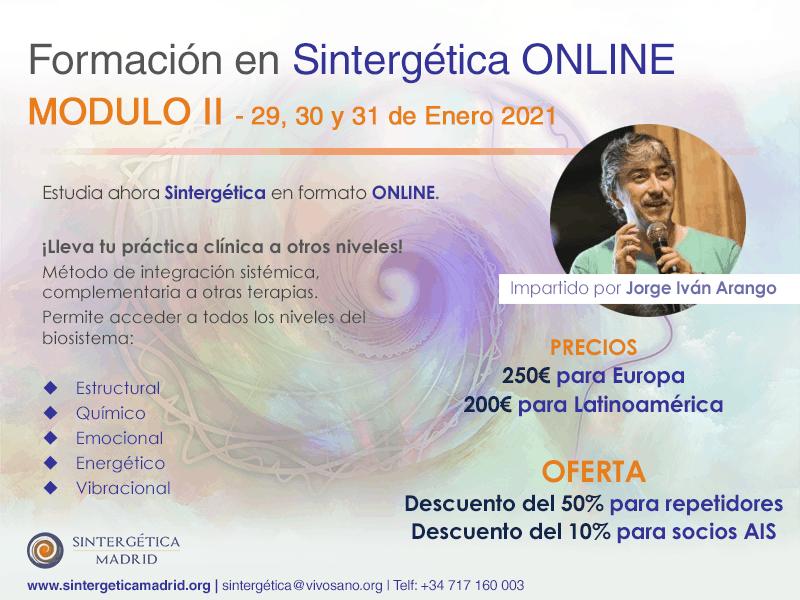 Formación Sintergética | Promoción XIV (Madrid) 2020 – 2021| ONLINE -Módulo 2