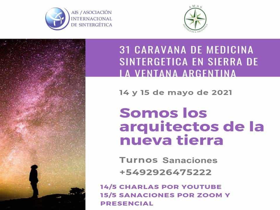 Caravana Sintergética Sierra de la Ventana Argentina | Mayo 14 y 15 de 2021  |  Online