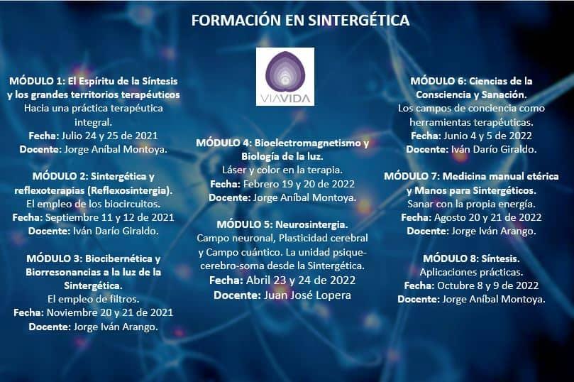 Formación Sintergética | (Colombia) Medellín | 2021 – 2022 |  Módulo VIII – ONLINE Y PRESENCIAL
